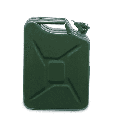 Metal petrol canister