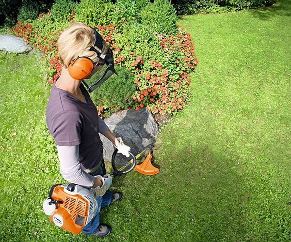Stihl FS40 Grass Trimmer in use