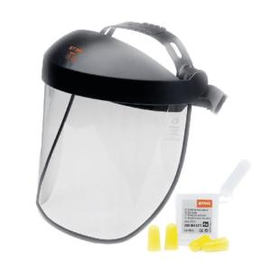 STIHL Polycarbonate visor - double headband & ear plugs