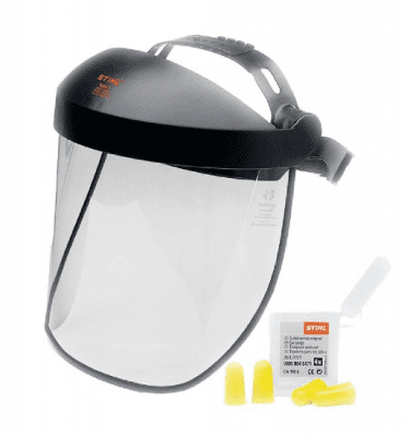 STIHL Polycarbonate visor - double headband & ear plugs