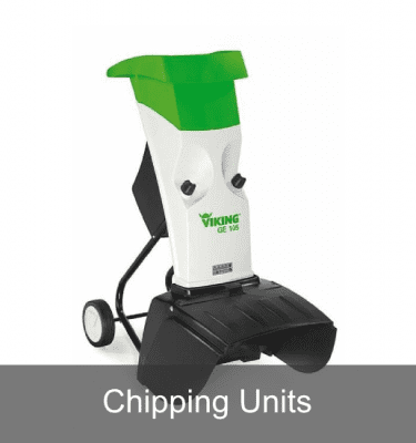 Shredders with chipping units