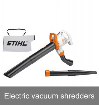Electric vacuum shredders