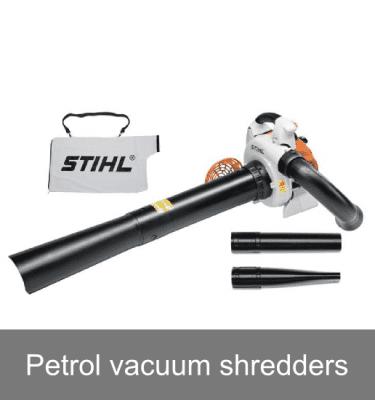 Petrol vacuum shredders