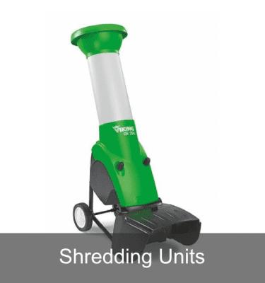Shredder with shredding units