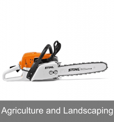 Petrol chainsaws for agriculture and landscaping