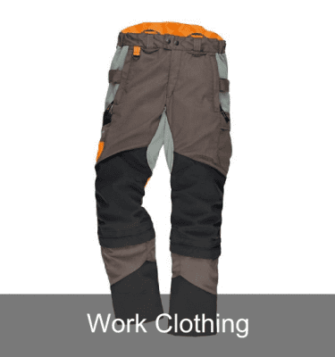 Work clothing, belts and braces