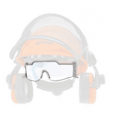 Attachable safety glasses