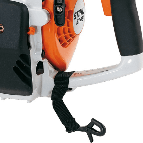 Practical accessory for STIHL BT 45. Ideal for supporting the machine whilst keeping the hands free, or in storage.