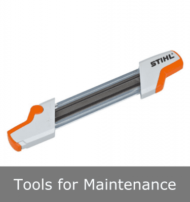 Tools for maintenance and servicing of chainsaws